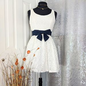 Hollister White Lace Skater dress Sz S